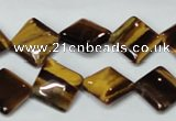 CTE187 15.5 inches 12*12mm diamond yellow tiger eye gemstone beads