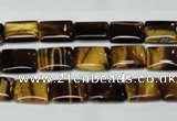 CTE188 15.5 inches 10*14mm rectangle yellow tiger eye gemstone beads