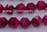CTE1942 15.5 inches 8mm faceted nuggets red tiger eye beads