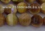 CTE1998 15.5 inches 10mm faceted round golden tiger eye beads