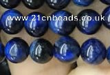 CTE2036 15.5 inches 6mm round blue tiger eye beads wholesale