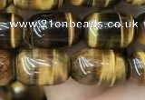 CTE2058 15.5 inches 8*12mm drum yellow tiger eye gemstone beads