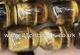 CTE2059 15.5 inches 10*14mm drum yellow tiger eye gemstone beads