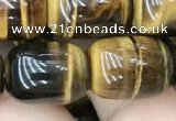 CTE2060 15.5 inches 12*16mm drum yellow tiger eye gemstone beads