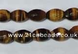 CTE207 15.5 inches 8*10mm faceted rice yellow tiger eye beads