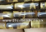 CTE2072 15.5 inches 4*13mm tube yellow tiger eye gemstone beads