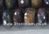CTE2105 8*14mm faceted rondelle AB-color mixed tiger eye beads