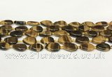 CTE2130 15.5 inches 13*18mm flat teardrop yellow tiger eye beads