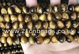 CTE2160 15.5 inches 10mm round yellow tiger eye gemstone beads