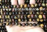 CTE2191 15.5 inches 6mm round mixed tiger eye beads wholesale
