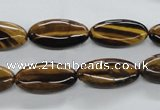 CTE305 15.5 inches 10*20mm marquise yellow tiger eye gemstone beads