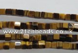 CTE326 15.5 inches 4*4mm cube yellow tiger eye gemstone beads