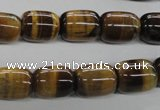 CTE329 15.5 inches 10*14mm drum yellow tiger eye gemstone beads