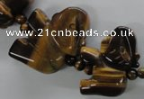 CTE339 15.5 inches 20*25mm animal yellow tiger eye gemstone beads