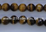 CTE423 15.5 inches 10mm faceted round yellow tiger eye beads