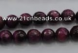 CTE473 15.5 inches 10mm faceted round red tiger eye beads wholesale
