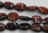 CTE57 15.5 inches 10*14mm oval red tiger eye gemstone beads