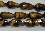 CTE761 15.5 inches 10*20mm faceted teardrop yellow tiger eye beads
