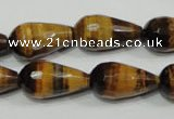 CTE762 15.5 inches 12*22mm faceted teardrop yellow tiger eye beads
