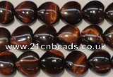 CTE890 15.5 inches 12*12mm heart red tiger eye beads wholesale