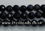 CTE932 15.5 inches 8mm faceted round dyed blue tiger eye beads