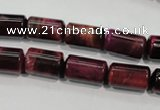 CTE989 15.5 inches 8*14mm tube dyed red tiger eye beads wholesale