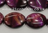 CTE997 15.5 inches 18*25mm oval dyed red tiger eye beads wholesale