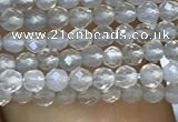 CTG1001 15.5 inches 2mm faceted round tiny grey agate beads
