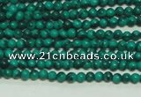 CTG101 15.5 inches 2mm round tiny synthetic malachite beads wholesale