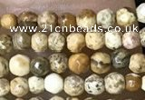 CTG1040 15.5 inches 2mm faceted round tiny picture jasper beads