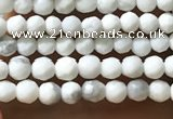 CTG1053 15.5 inches 2mm faceted round tiny white howlite beads
