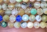 CTG1081 15.5 inches 2mm faceted round tiny chrysocolla beads