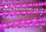 CTG1094 15.5 inches 2mm faceted round tiny quartz glass beads