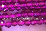 CTG1095 15.5 inches 2mm faceted round tiny quartz glass beads
