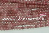 CTG110 15.5 inches 2mm round tiny rhodochrosite gemstone beads wholesale