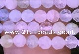 CTG1134 15.5 inches 3mm faceted round tiny morganite beads