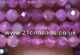 CTG1136 15.5 inches 3mm faceted round tiny imitation ruby beads