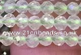 CTG1144 15.5 inches 3mm faceted round tiny prehnite gemstone beads