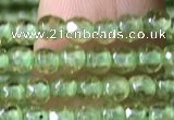 CTG1145 15.5 inches 3mm faceted round tiny peridot gemstone beads