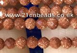 CTG1190 15.5 inches 3mm faceted round goldstone beads wholesale