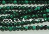 CTG132 15.5 inches 3mm round tiny synthetic malachite beads wholesale