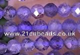 CTG1331 15.5 inches 4mm faceted round iolite beads wholesale