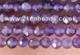 CTG1341 15.5 inches 2mm faceted round amethyst gemstone beads