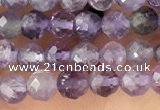 CTG1343 15.5 inches 4mm faceted round amethyst beads wholesale