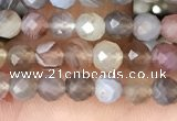 CTG1354 15.5 inches 4mm faceted round Botswana agate beads