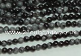 CTG136 15.5 inches 3mm round tiny snowflake obsidian beads wholesale