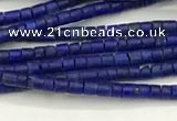CTG1371 15.5 inches 1*1mm heishi tiny lapis lazuli beads