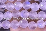 CTG1394 15.5 inches 4mm faceted round tiny white moonstone beads