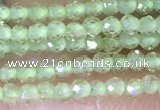 CTG1412 15.5 inches 2mm faceted round peridot beads wholesale