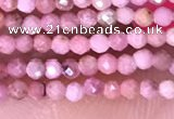 CTG1431 15.5 inches 2mm faceted round Chinese rhodochrosite beads